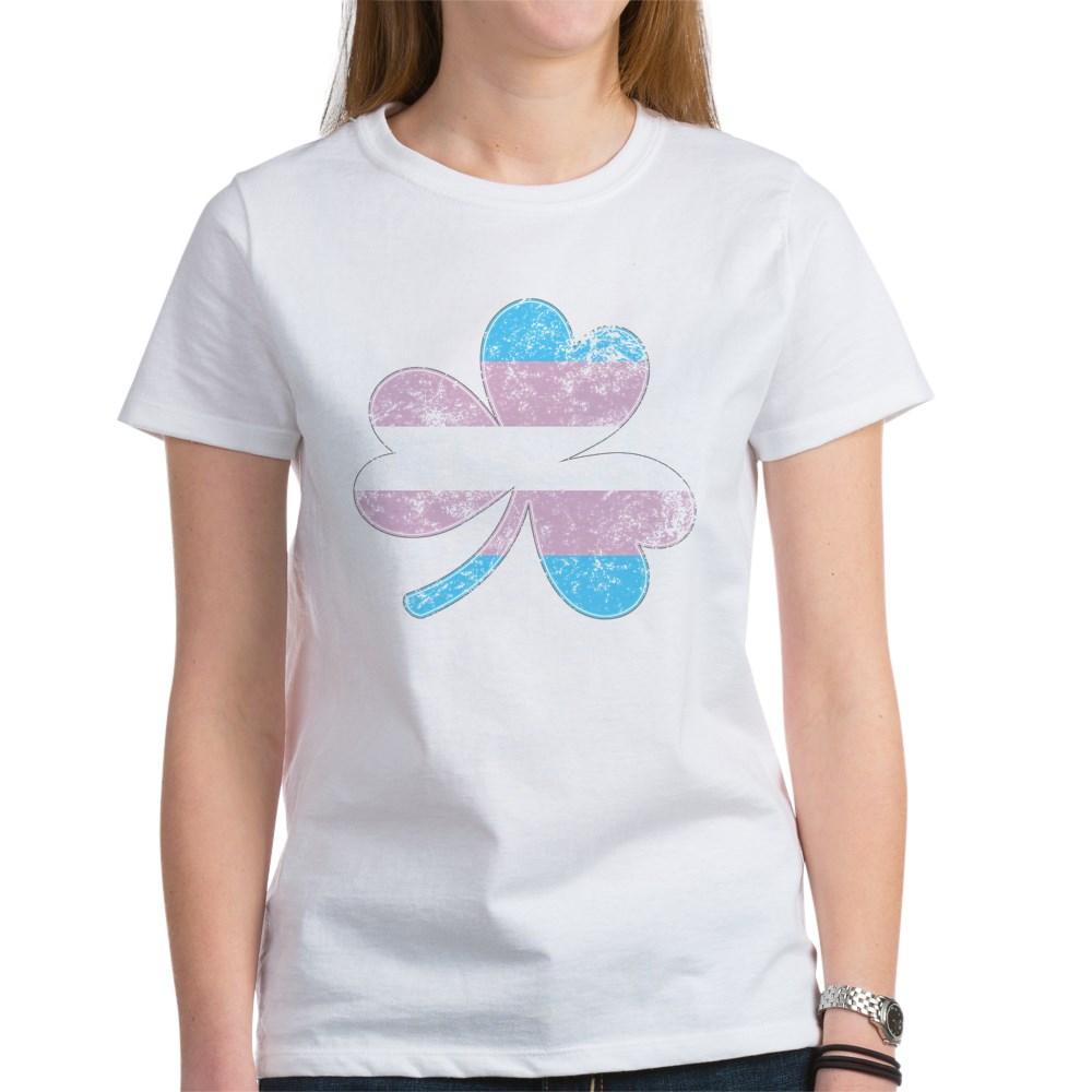 Transgender Shamrock Pride Flag Women's T-Shirt