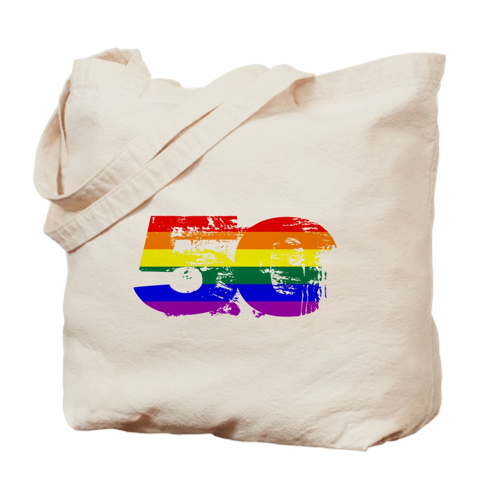LGBTQ Grunge 50 Pride Flag Tote Bag