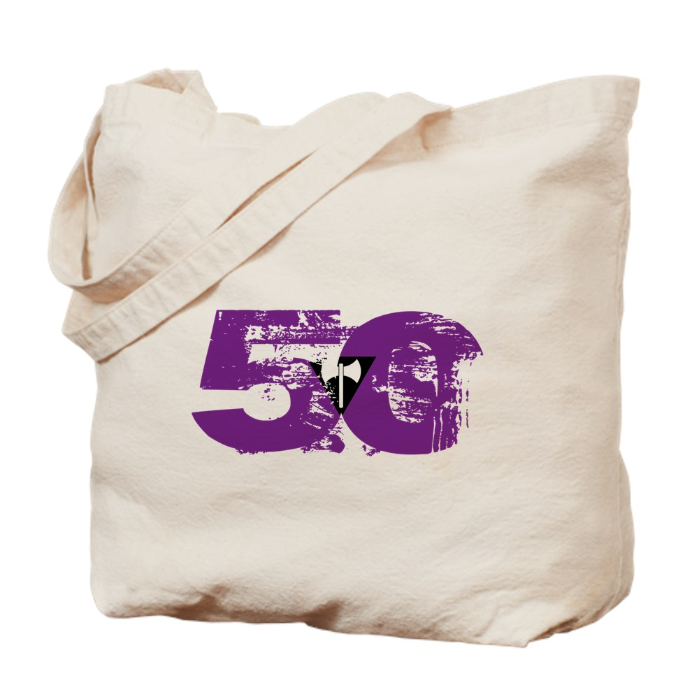 Lesbian Labrys Grunge 50 Pride Flag Tote Bag
