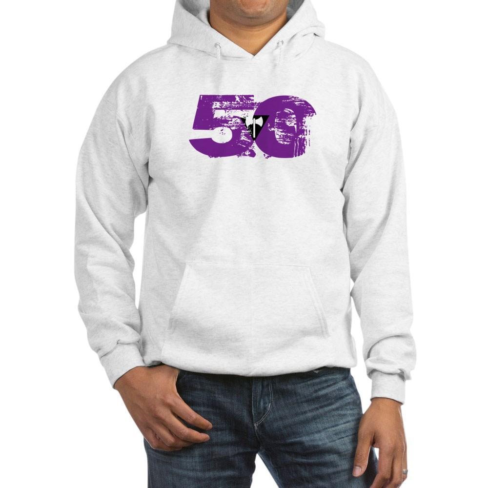 Lesbian Labrys Grunge 50 Pride Flag Hooded Sweatshirt
