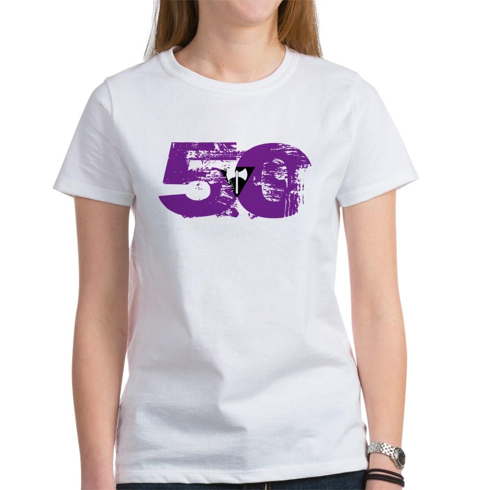 Lesbian Labrys Grunge 50 Pride Flag Women's T-Shirt