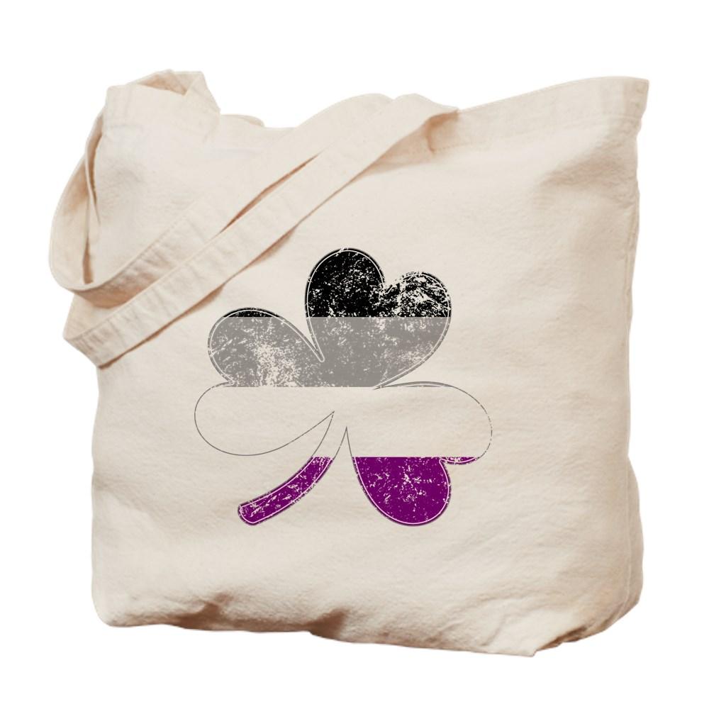 Asexual Shamrock Pride Flag Tote Bag