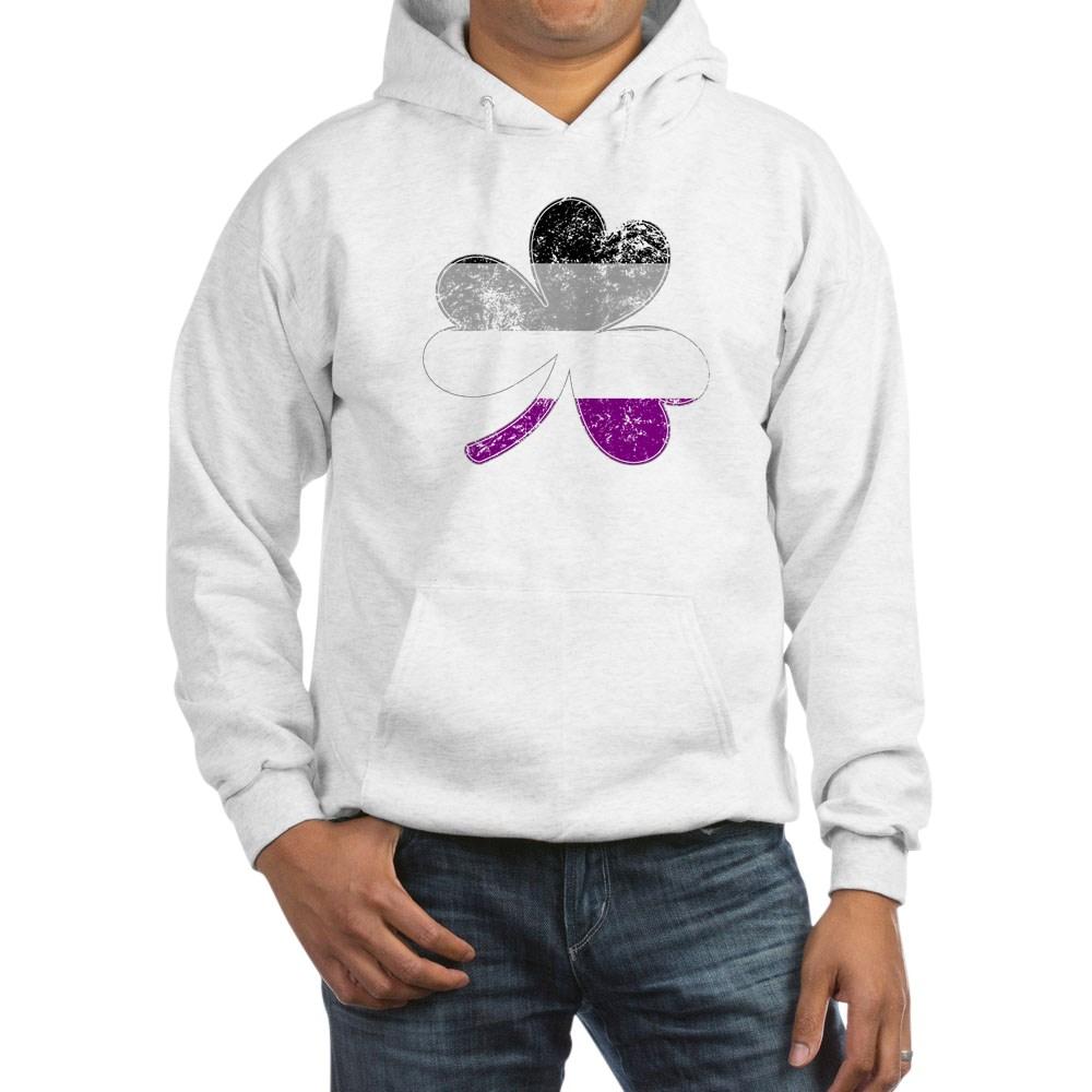 Asexual Shamrock Pride Flag Hooded Sweatshirt