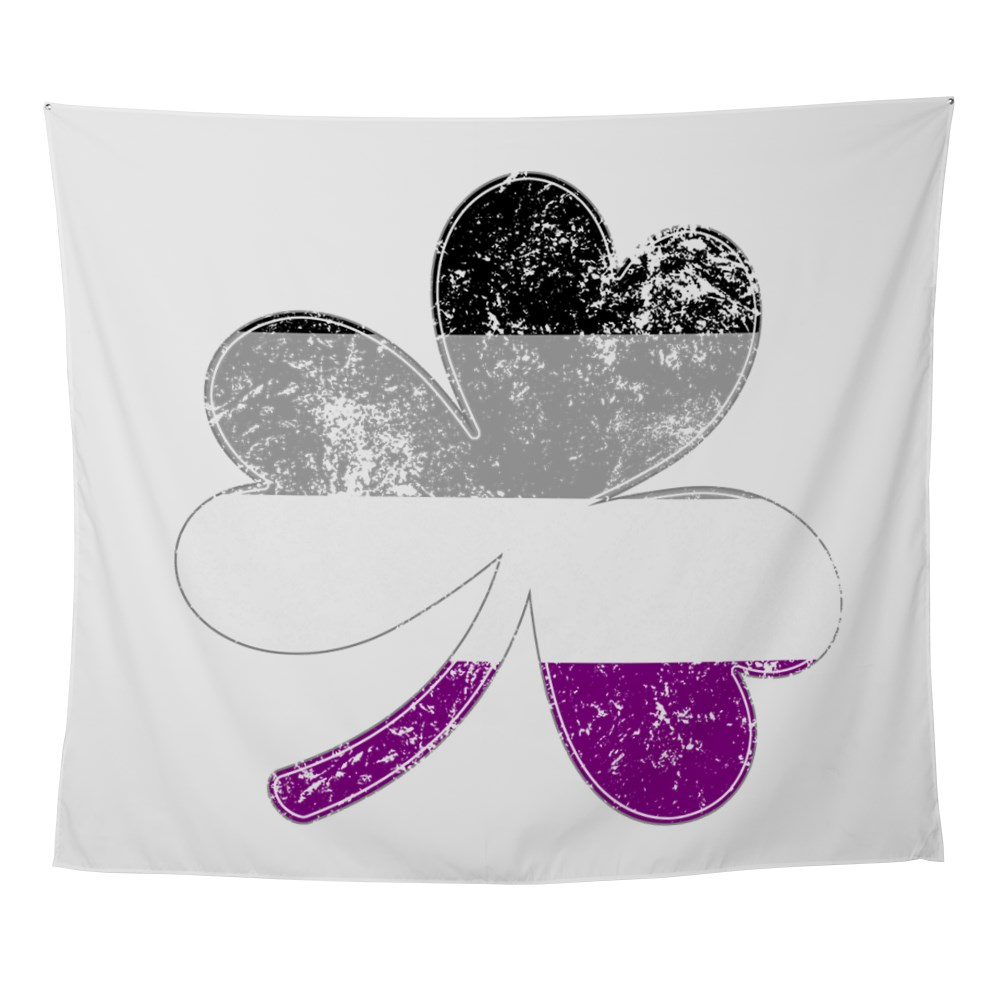 Asexual Shamrock Pride Flag Wall Tapestry