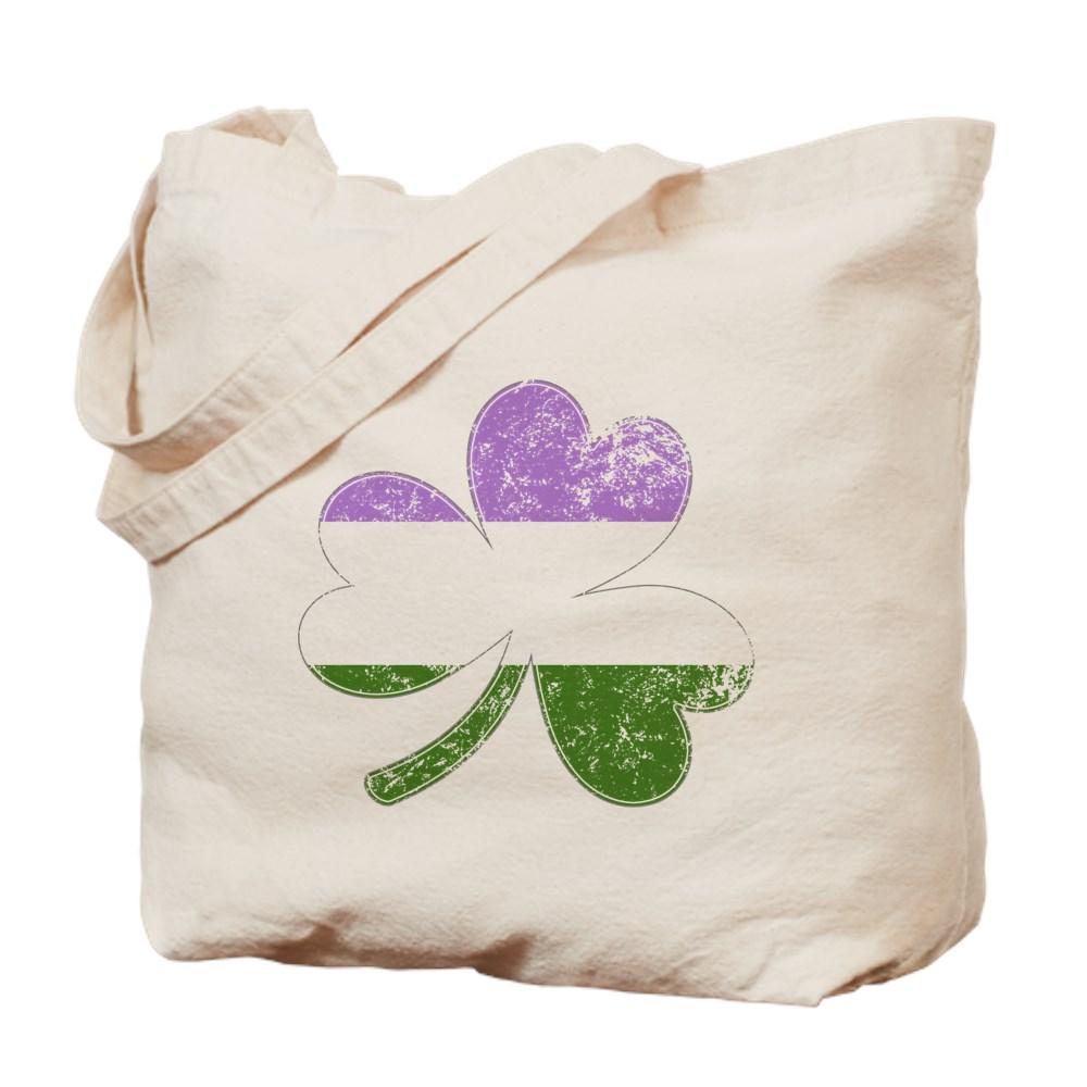 Genderqueer Shamrock Pride Flag Tote Bag