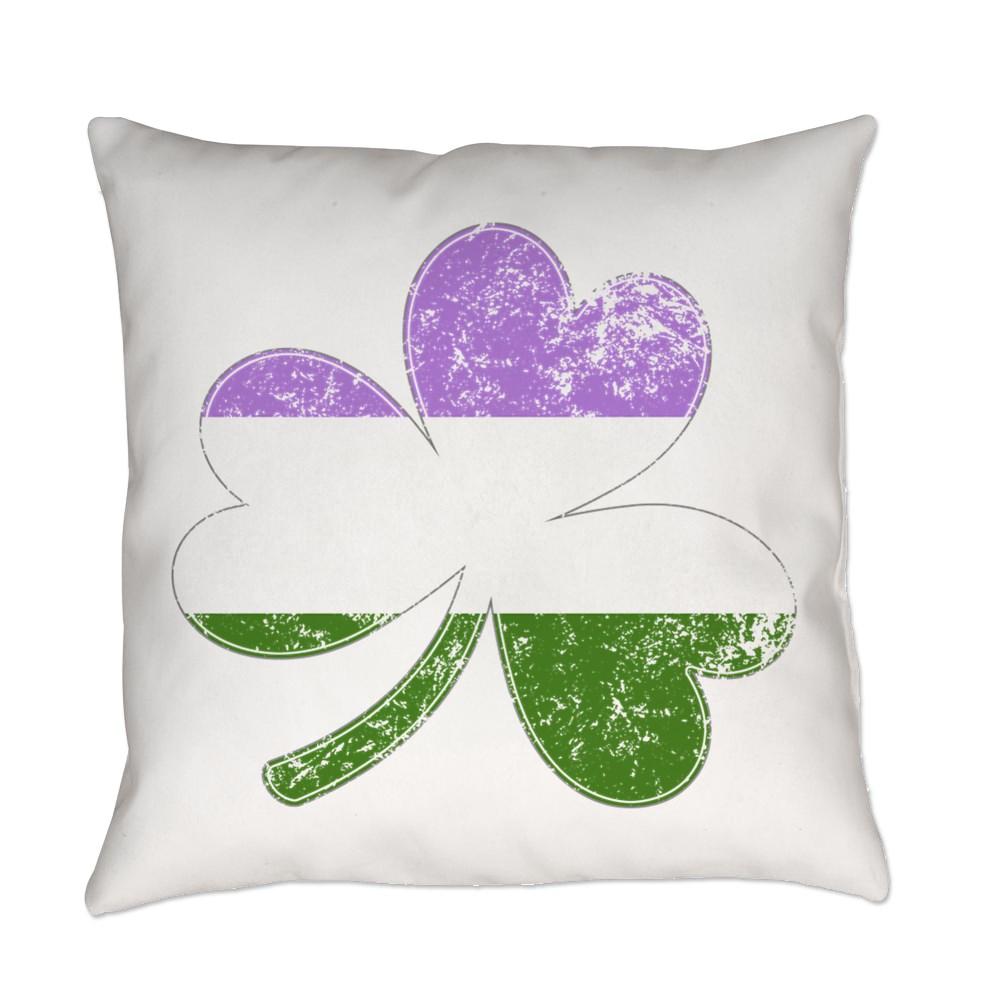 Genderqueer Shamrock Pride Flag Everyday Pillow
