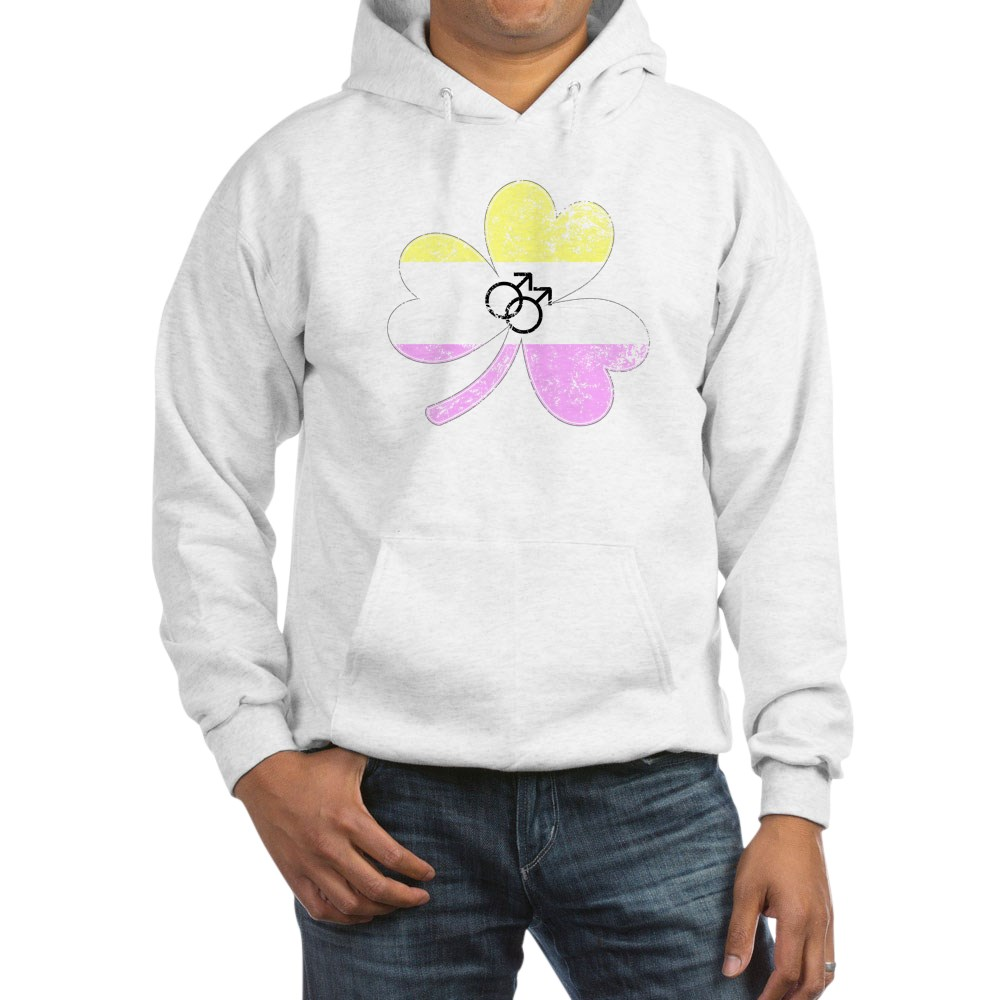 Gay Twink Shamrock Pride Flag Hooded Sweatshirt