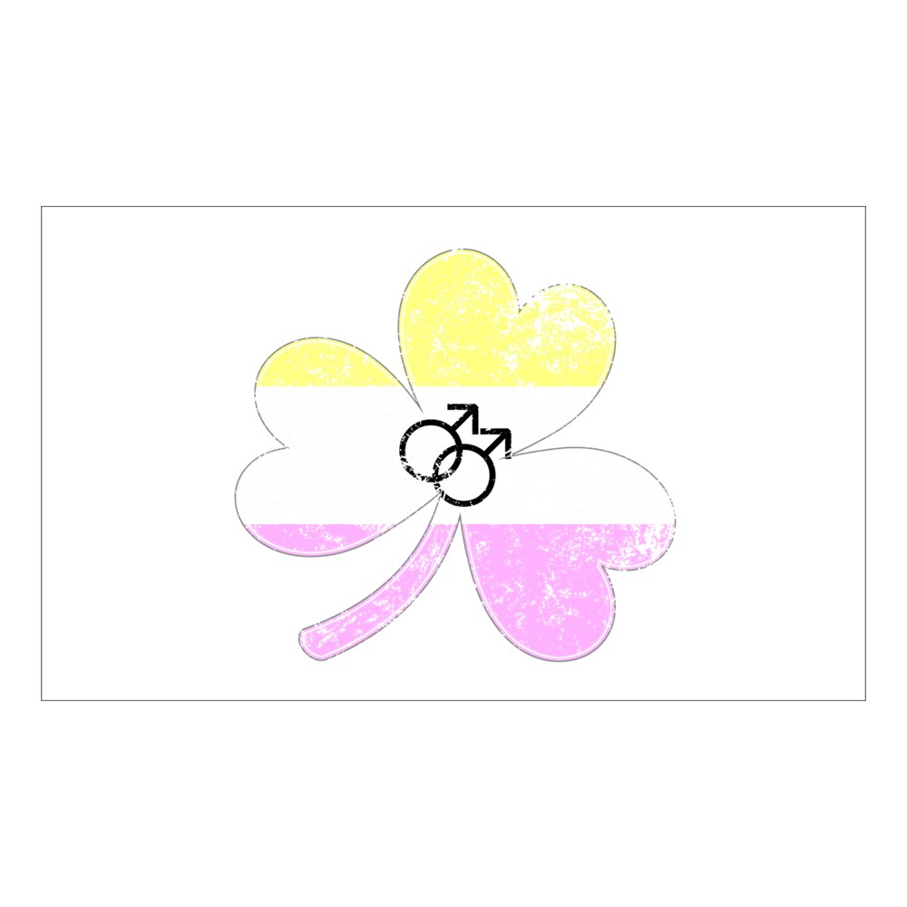 Gay Twink Shamrock Pride Flag Rectangle Sticker