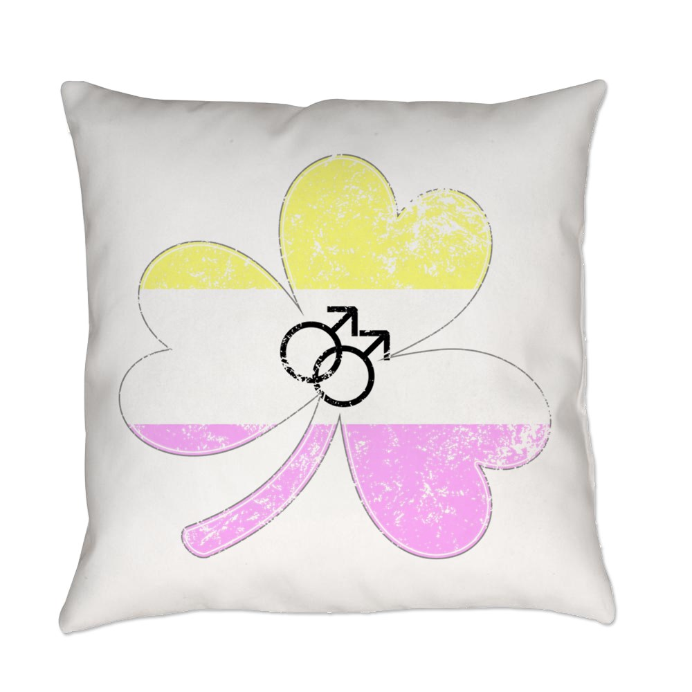 Gay Twink Shamrock Pride Flag Everyday Pillow