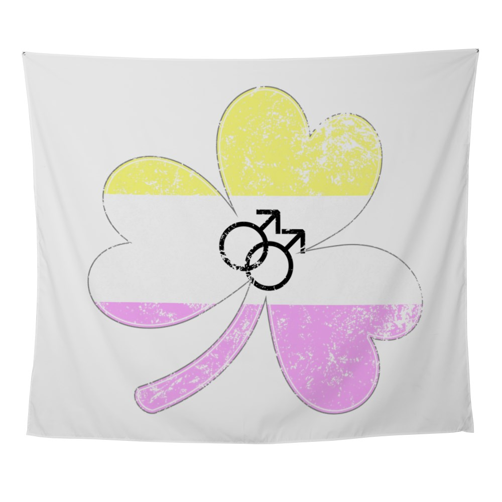 Gay Twink Shamrock Pride Flag Wall Tapestry