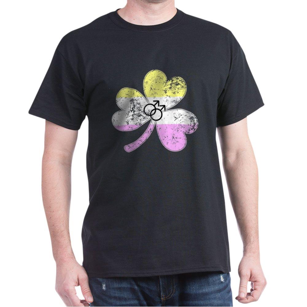 Gay Twink Shamrock Pride Flag Dark T-Shirt