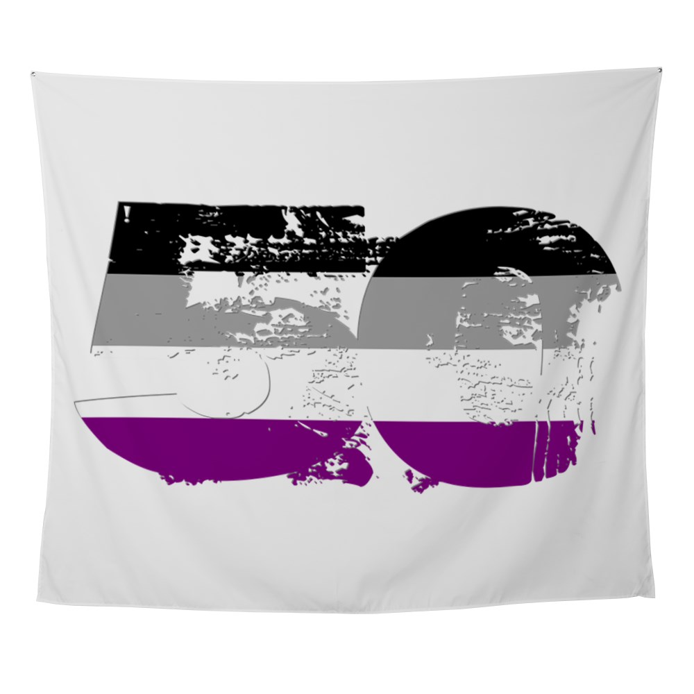 Asexual Grunge 50 Pride Flag Wall Tapestry