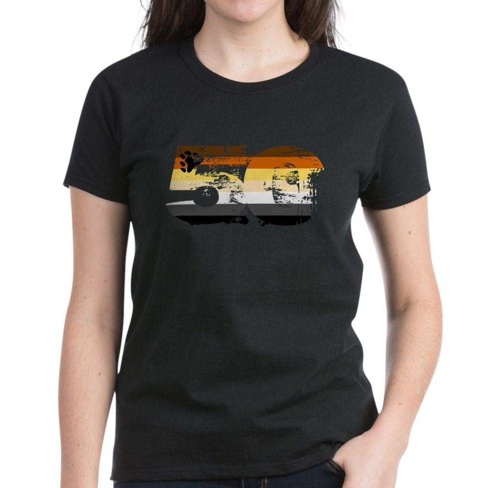 Gay Bear Grunge 50 Pride Flag Women's Dark T-Shirt