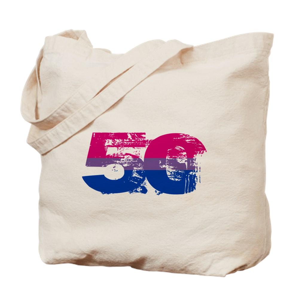 Bisexual Grunge 50 Pride Flag Tote Bag