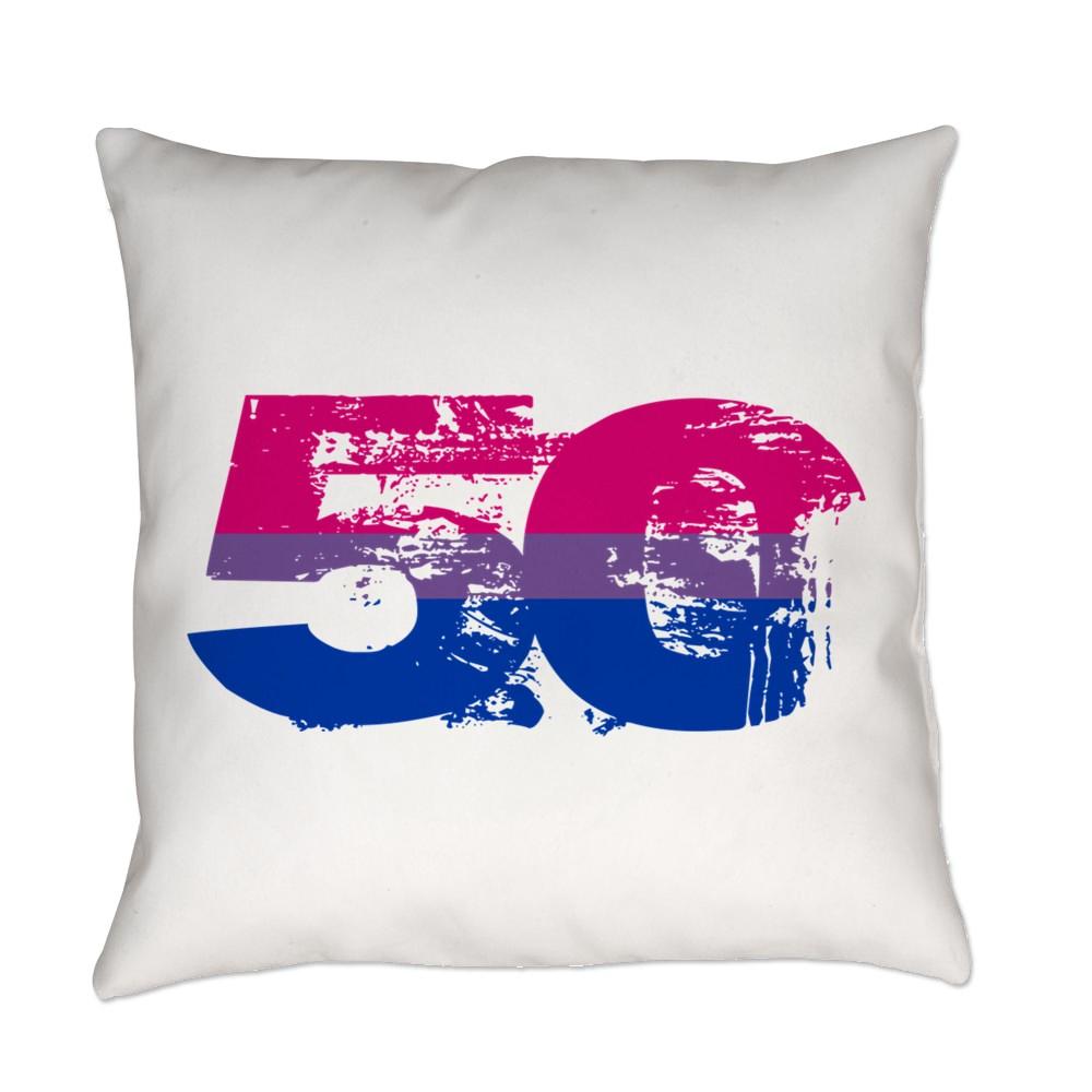 Bisexual Grunge 50 Pride Flag Everyday Pillow