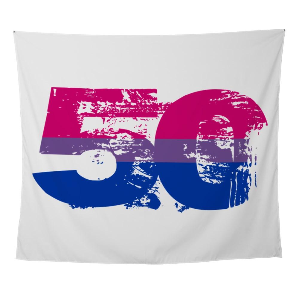 Bisexual Grunge 50 Pride Flag Wall Tapestry
