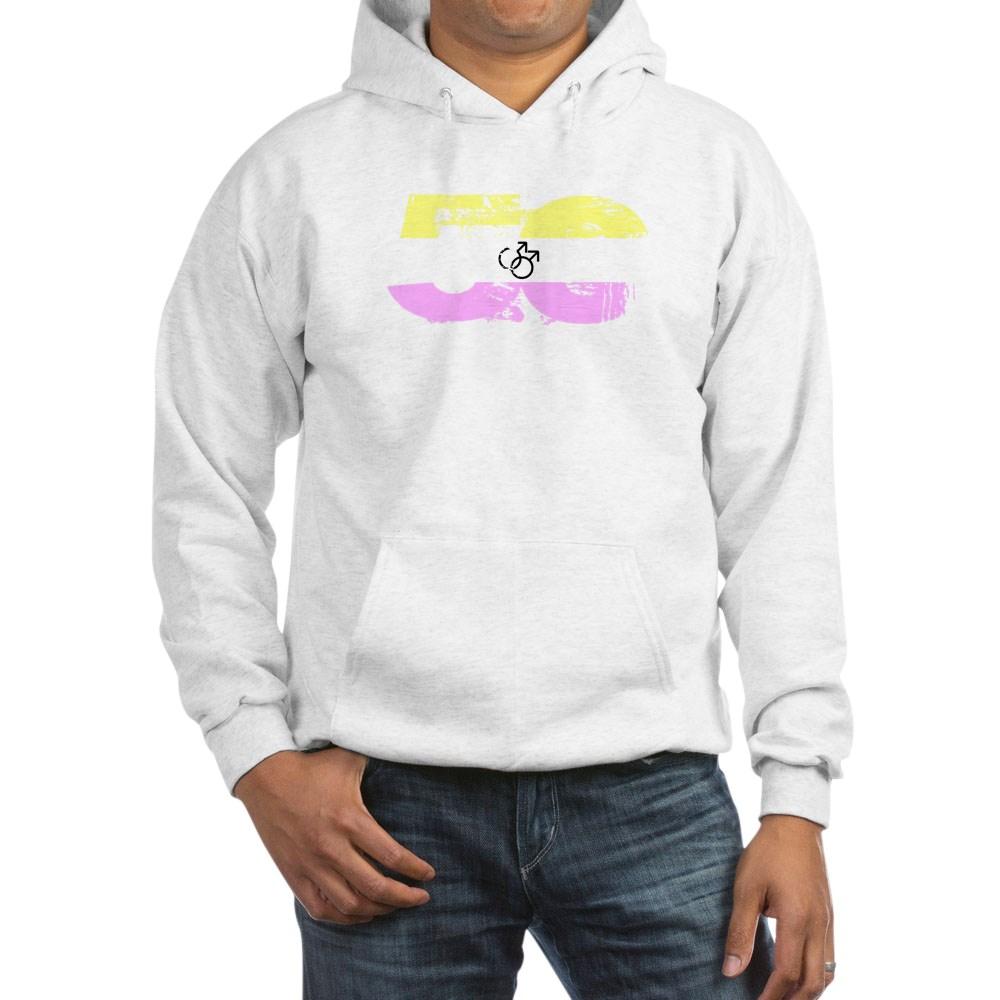Gay Twink Grunge 50 Pride Flag Hooded Sweatshirt