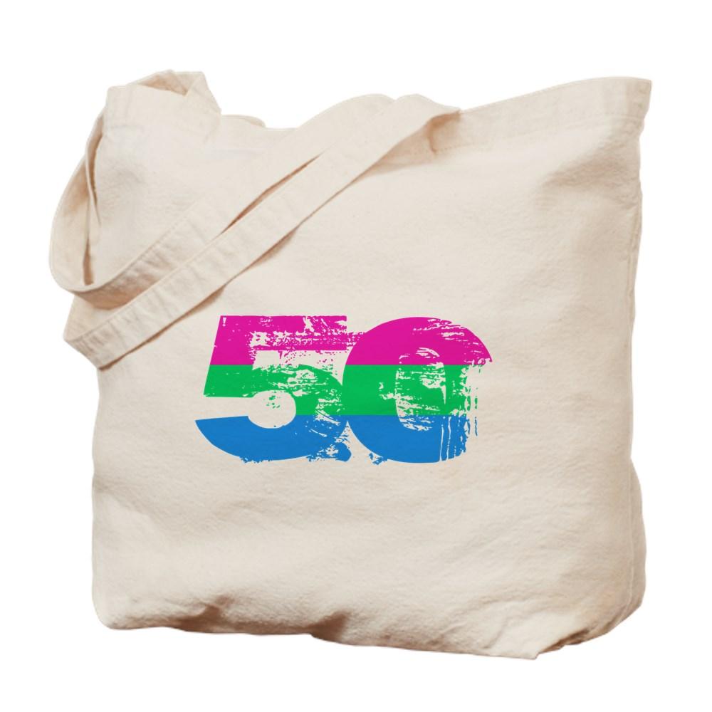 Polysexual Grunge 50 Pride Flag Tote Bag