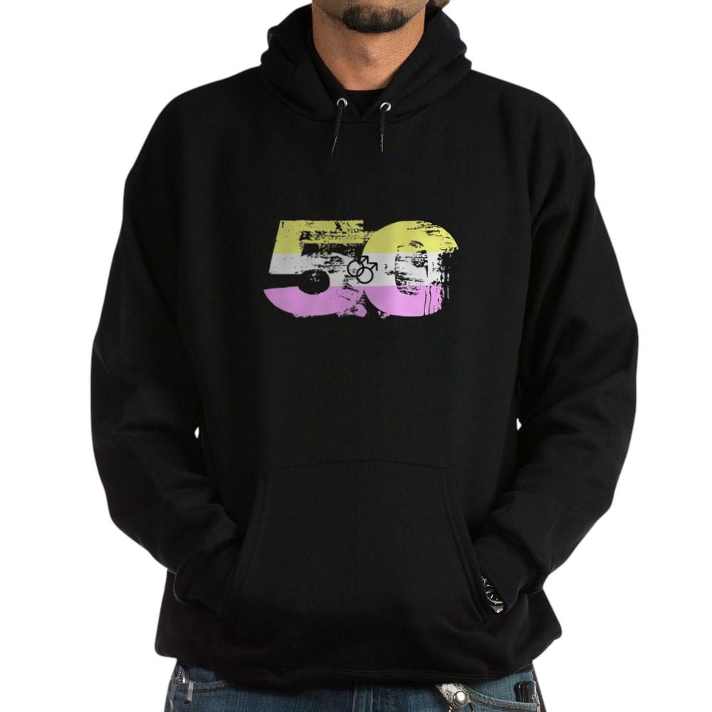 Gay Twink Grunge 50 Pride Flag Dark Hoodie