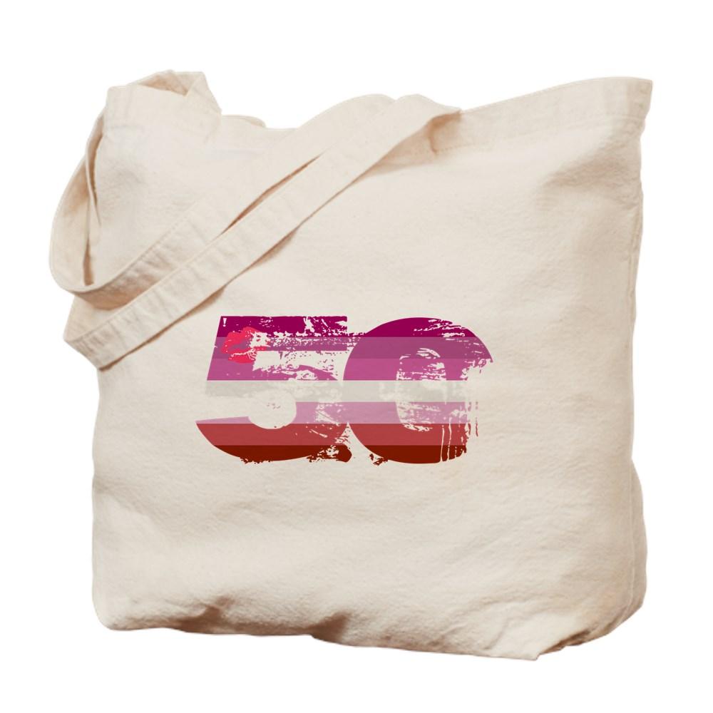 Lipstick Lesbian Grunge 50 Pride Flag Tote Bag