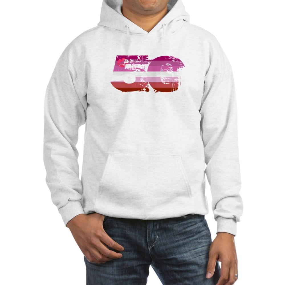 Lipstick Lesbian Grunge 50 Pride Flag Hooded Sweatshirt