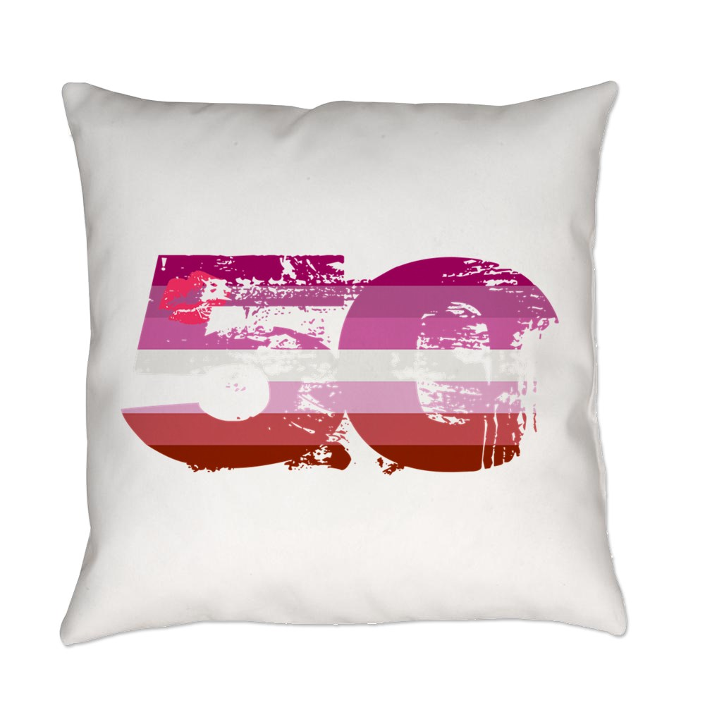 Lipstick Lesbian Grunge 50 Pride Flag Everyday Pillow