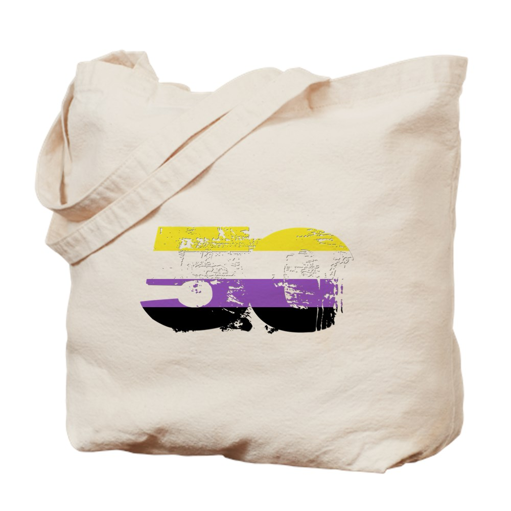 Nonbinary Grunge 50 Pride Flag Tote Bag