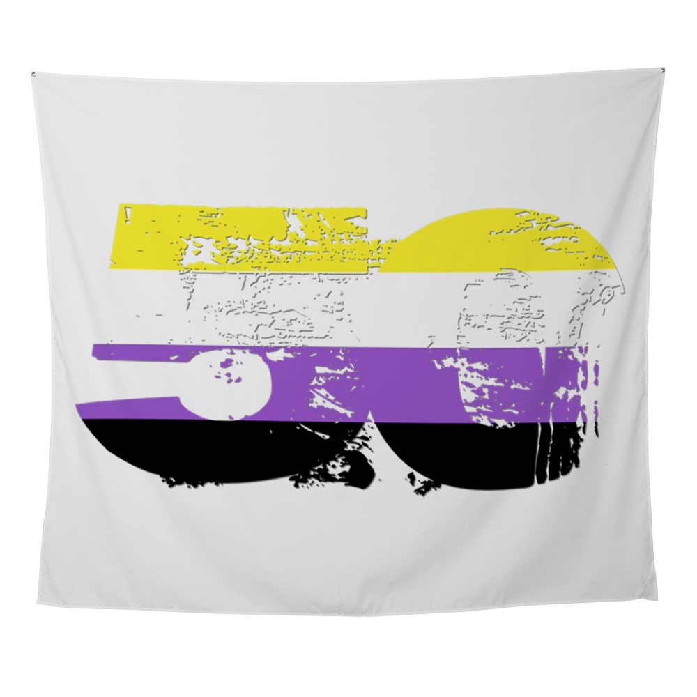 Nonbinary Grunge 50 Pride Flag Wall Tapestry
