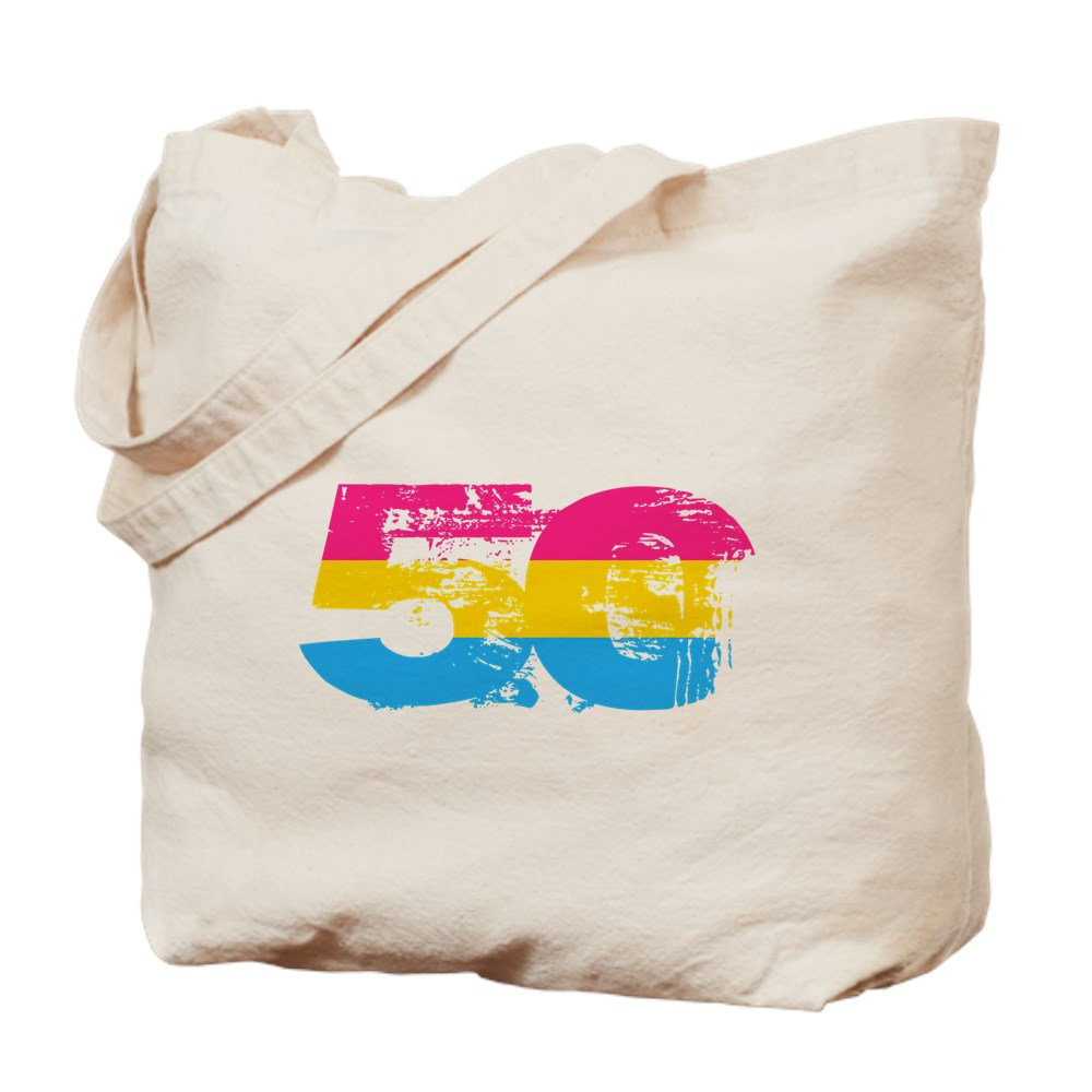 Pansexual Grunge 50 Pride Flag Tote Bag