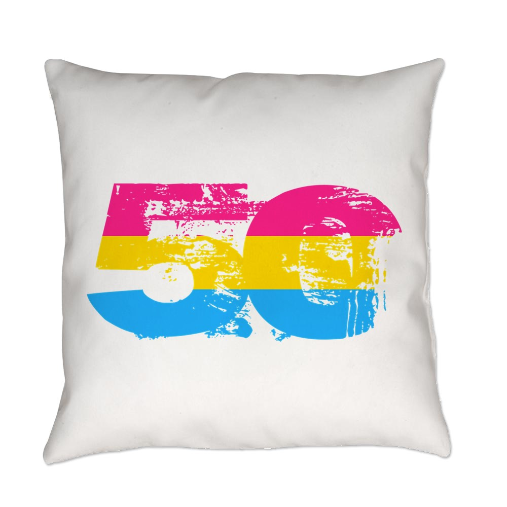 Pansexual Grunge 50 Pride Flag Everyday Pillow