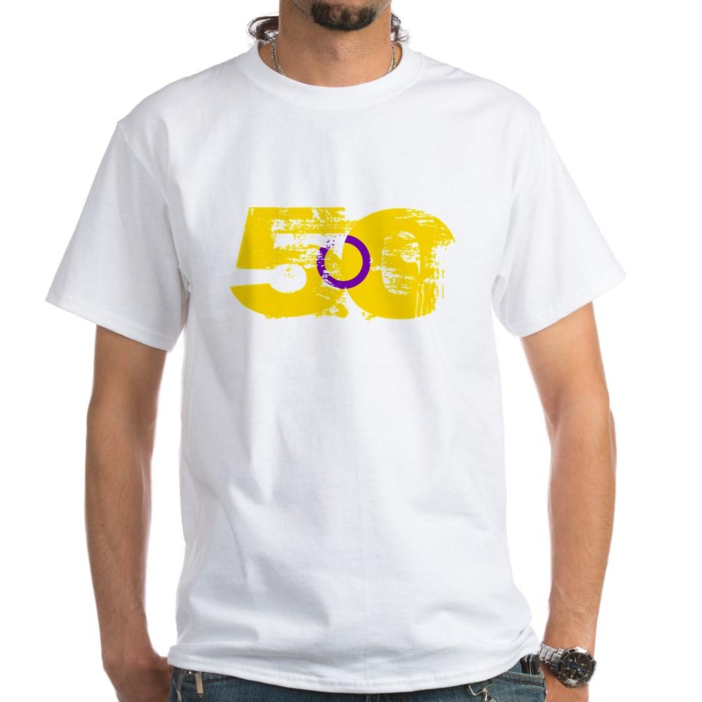 Intersex Grunge 50 Pride Flag White T-Shirt