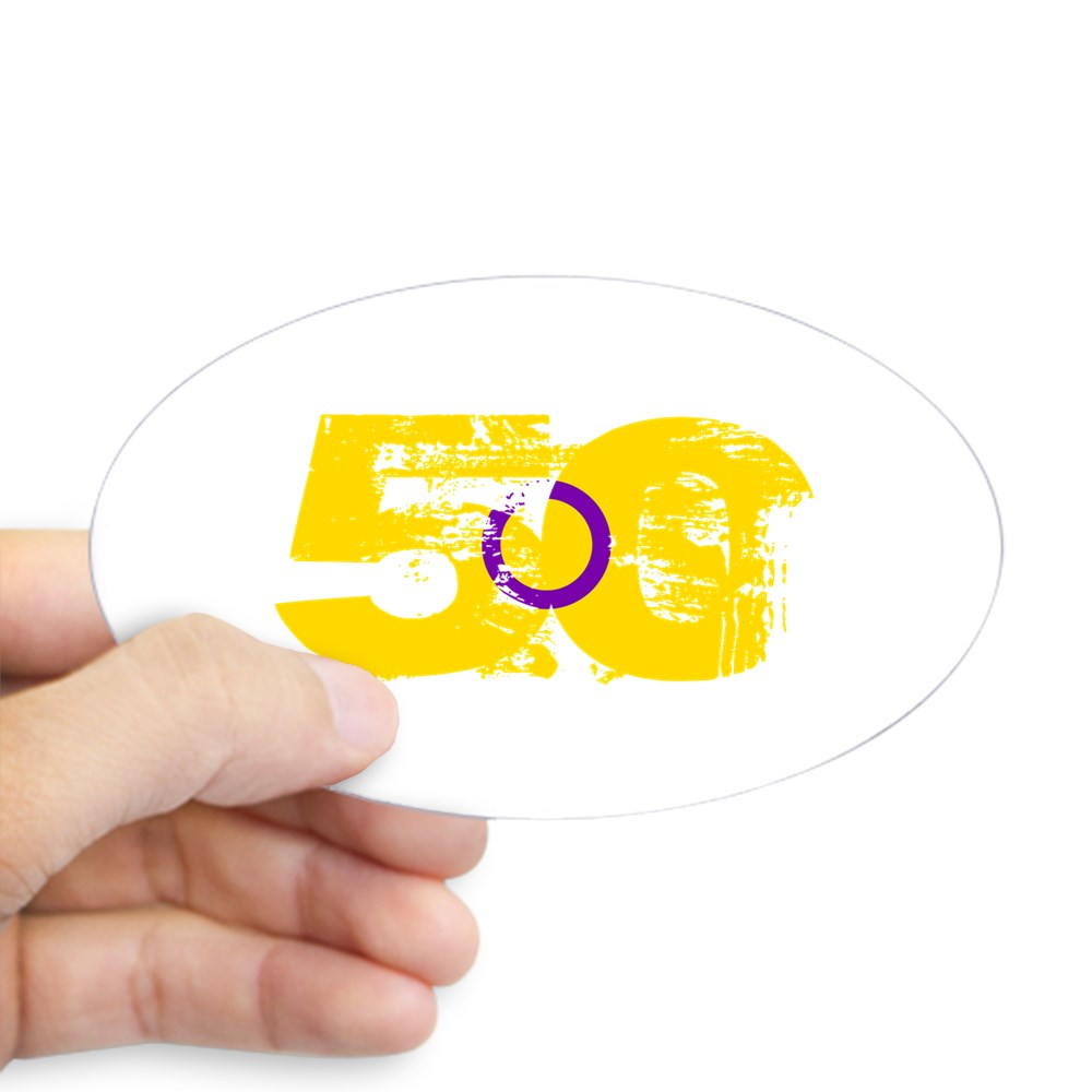 Intersex Grunge 50 Pride Flag Oval Sticker