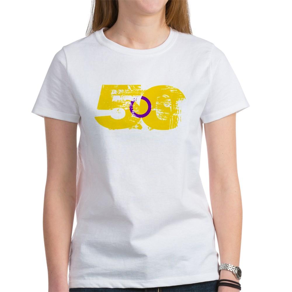 Intersex Grunge 50 Pride Flag Women's T-Shirt