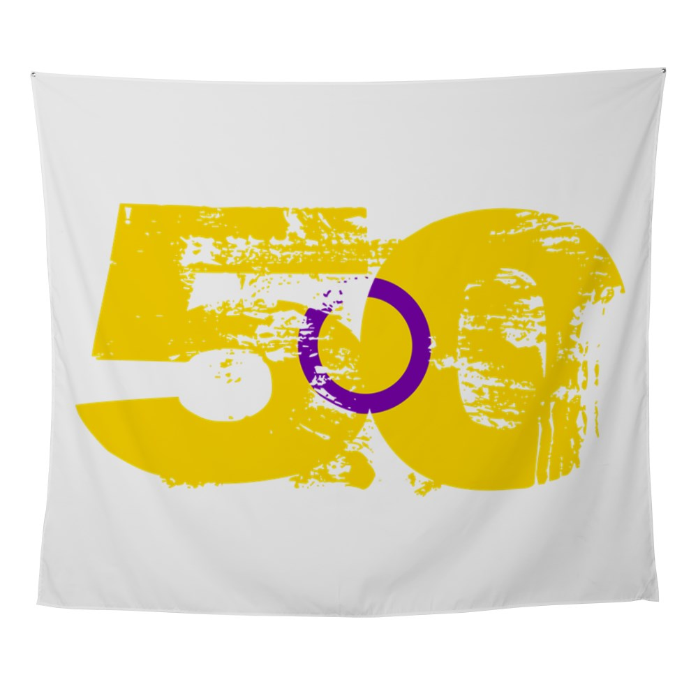 Intersex Grunge 50 Pride Flag Wall Tapestry