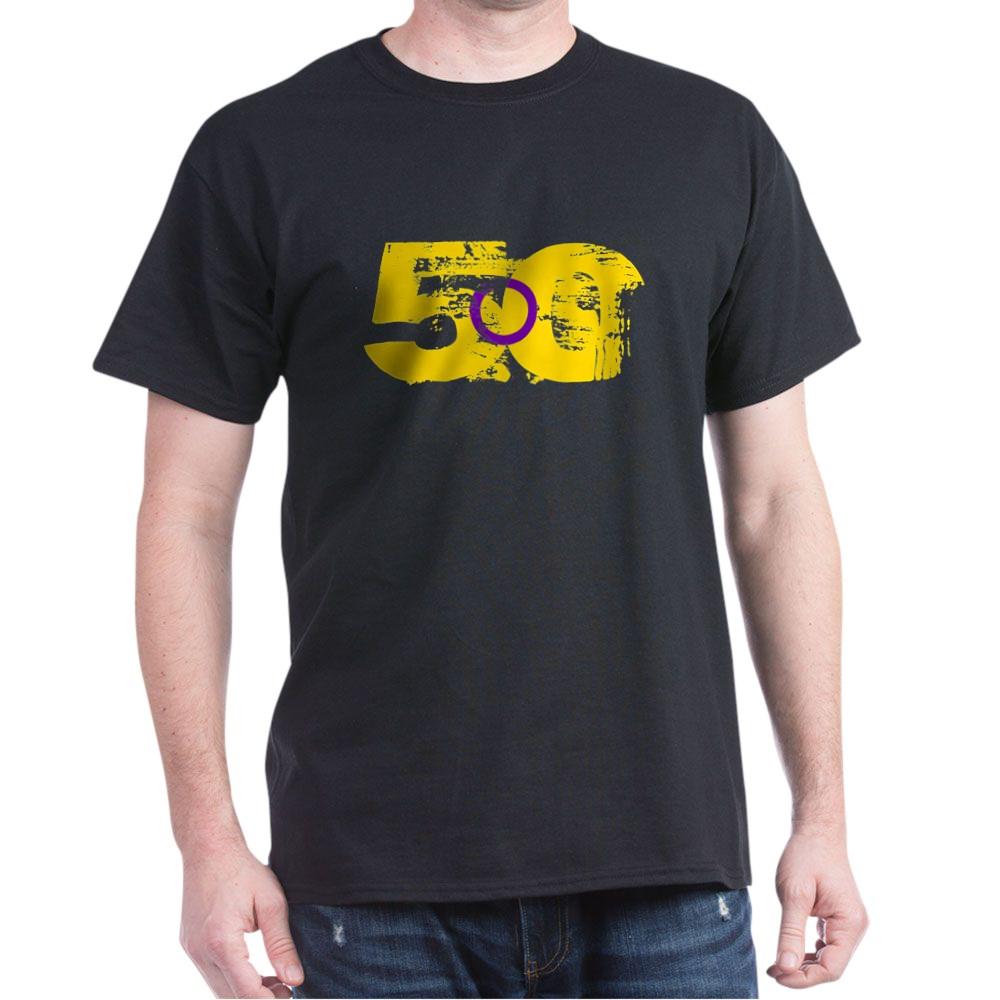 Intersex Grunge 50 Pride Flag Dark T-Shirt