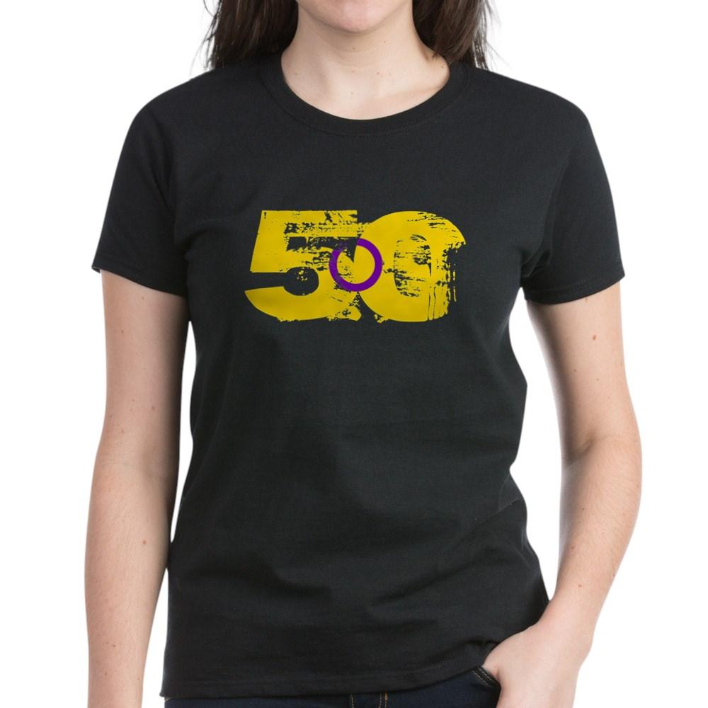 Intersex Grunge 50 Pride Flag Women's Dark T-Shirt