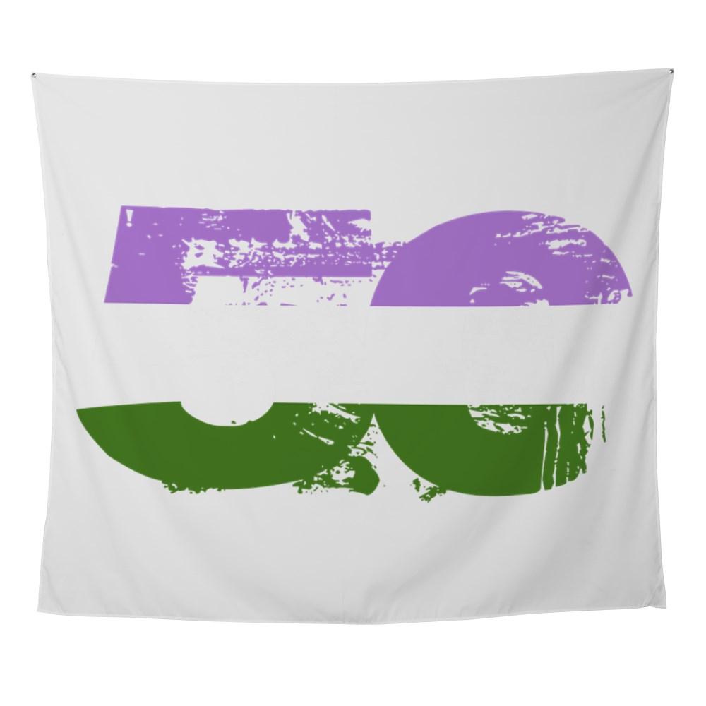 Genderqueer Grunge 50 Pride Flag Wall Tapestry