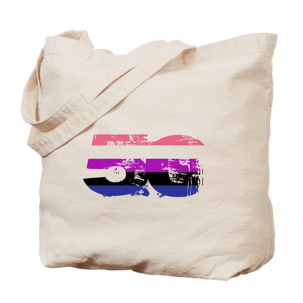 Genderfluid Grunge 50 Pride Flag Tote Bag