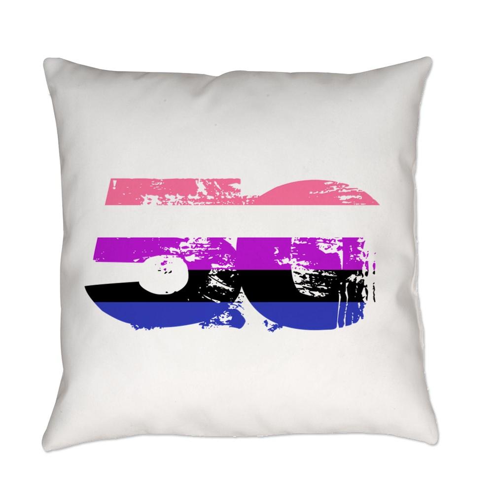 Genderfluid Grunge 50 Pride Flag Everyday Pillow