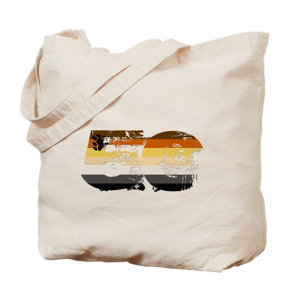Gay Bear Grunge 50 Pride Flag Tote Bag