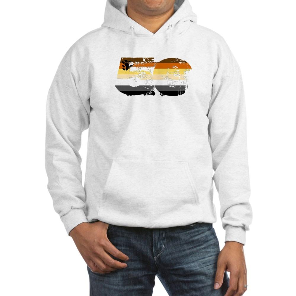 Gay Bear Grunge 50 Pride Flag Hooded Sweatshirt