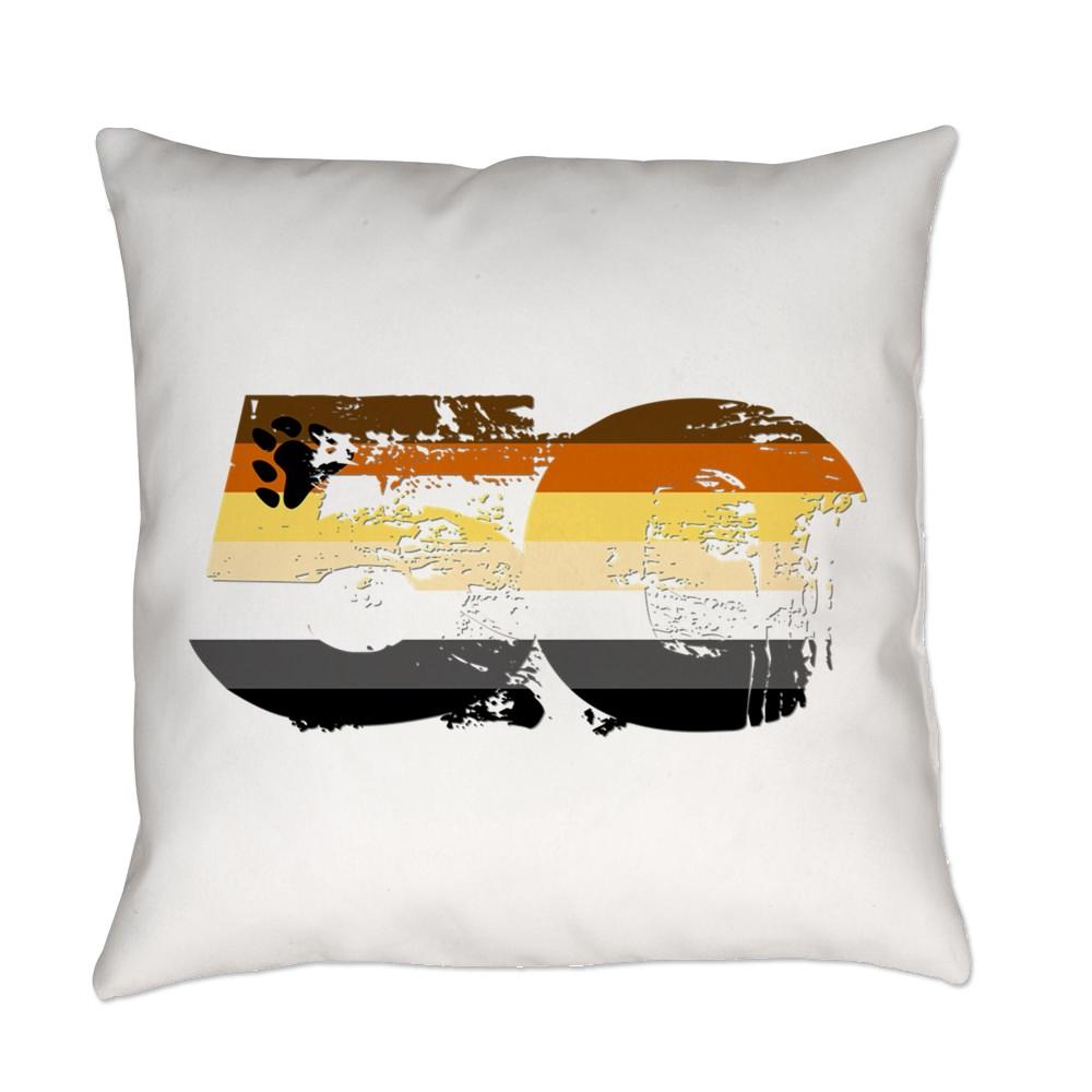 Gay Bear Grunge 50 Pride Flag Everyday Pillow