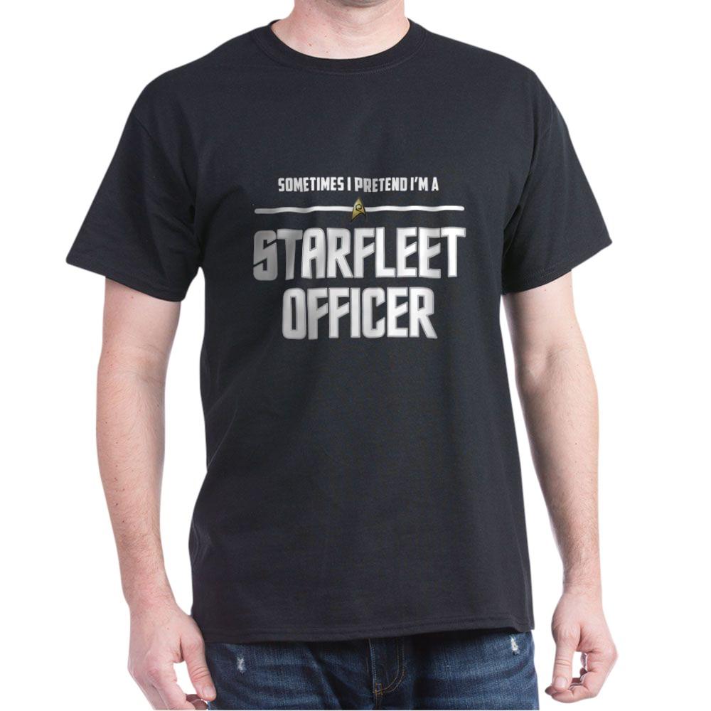 Pretend I'm a Starfleet Officer - Operations Dark T-Shirt