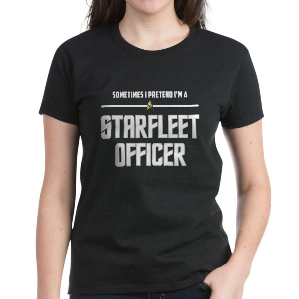 Pretend I'm a Starfleet Officer - Operations Women's Dark T-Shirt