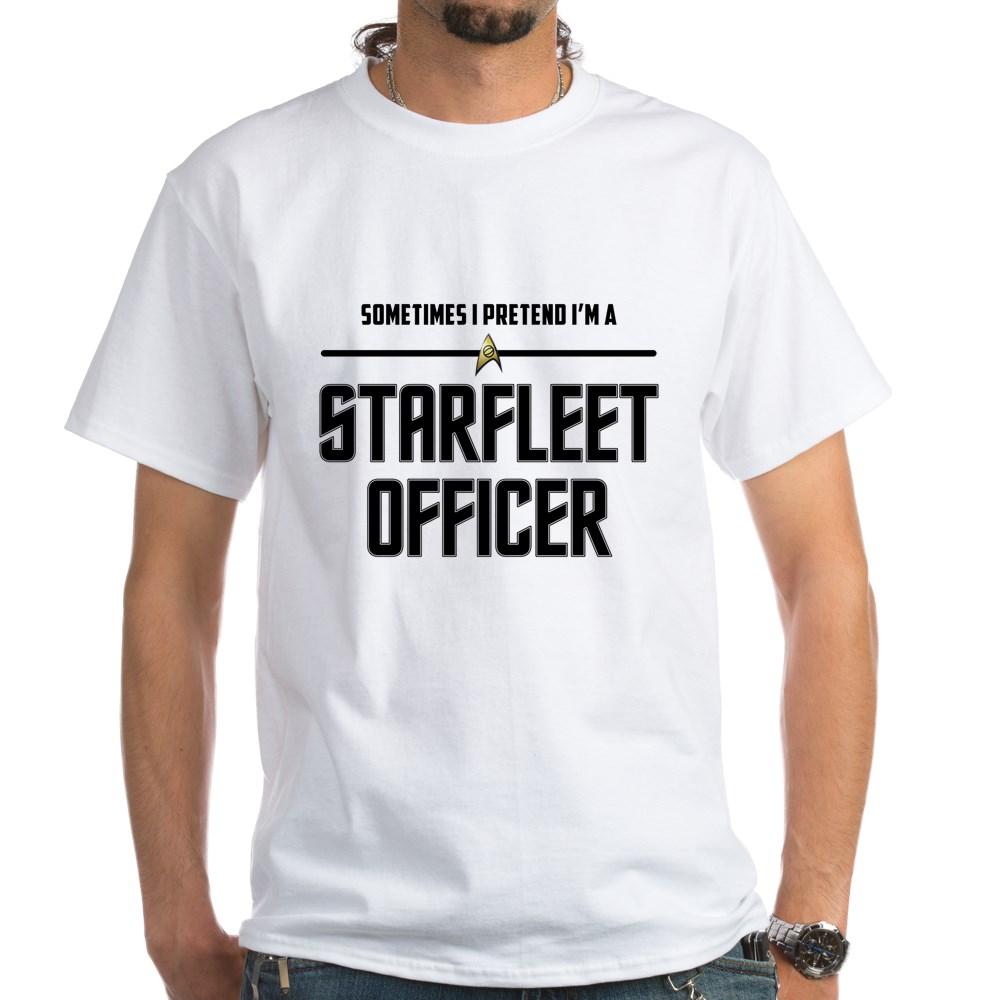 Pretend I'm a Starfleet Officer - Science White T-Shirt