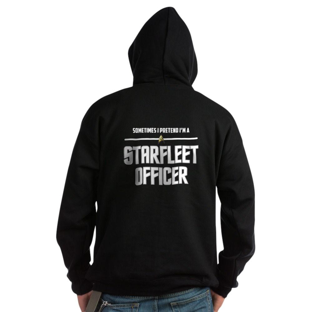 Pretend I'm a Starfleet Officer - Science Dark Hoodie