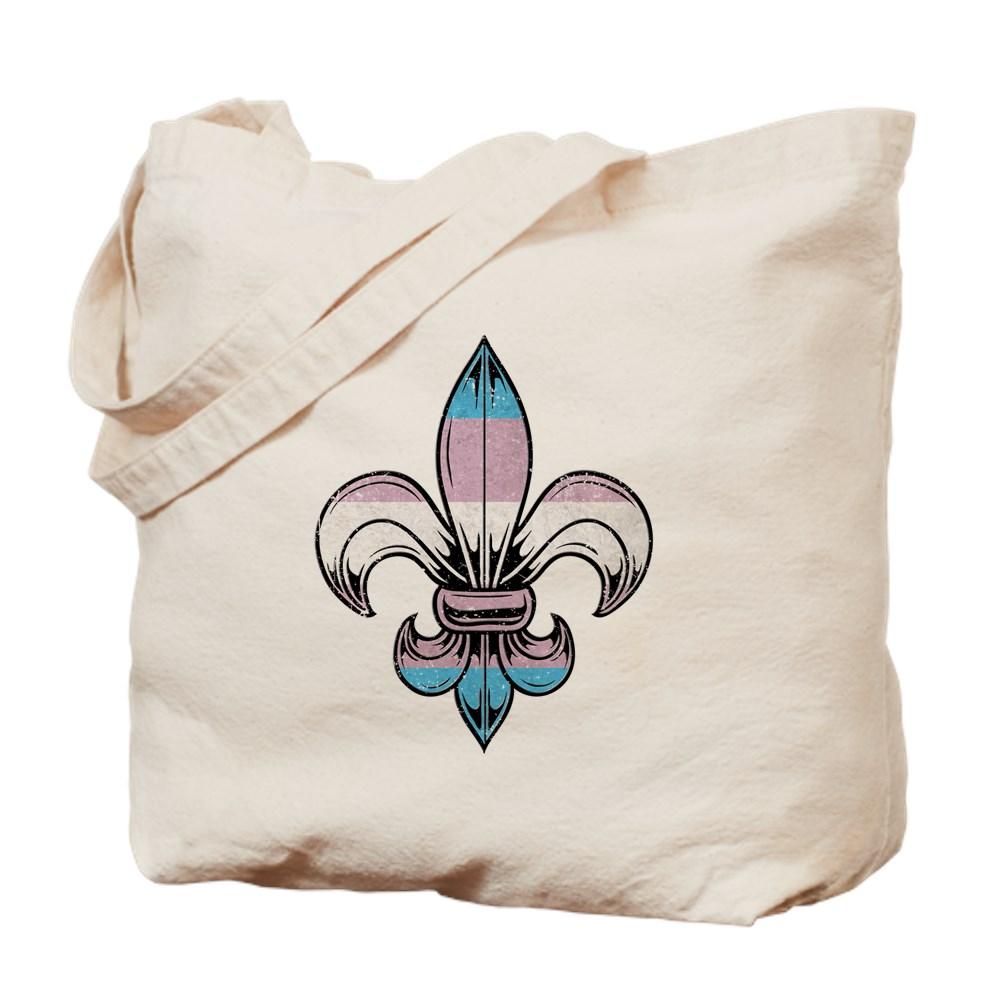 Transgender Pride Flag Fleur de Lis Tote Bag