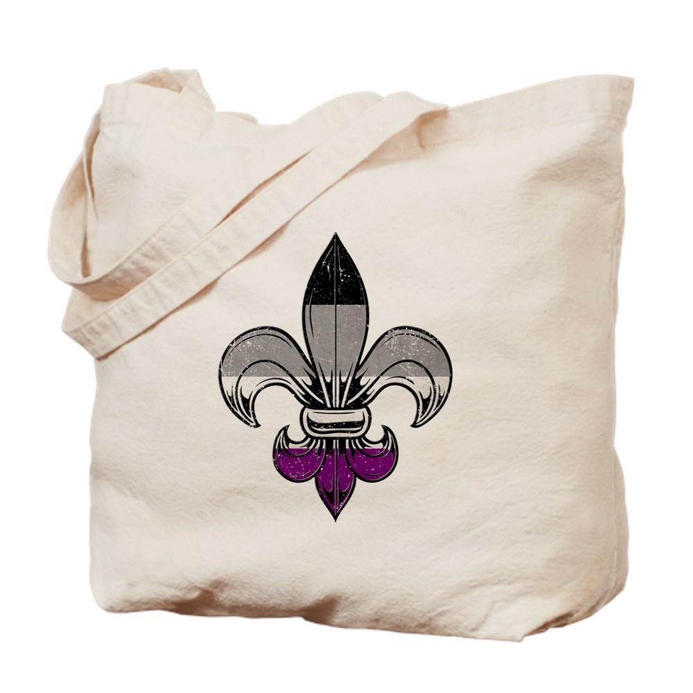 Asexual Pride Flag Fleur de Lis Tote Bag