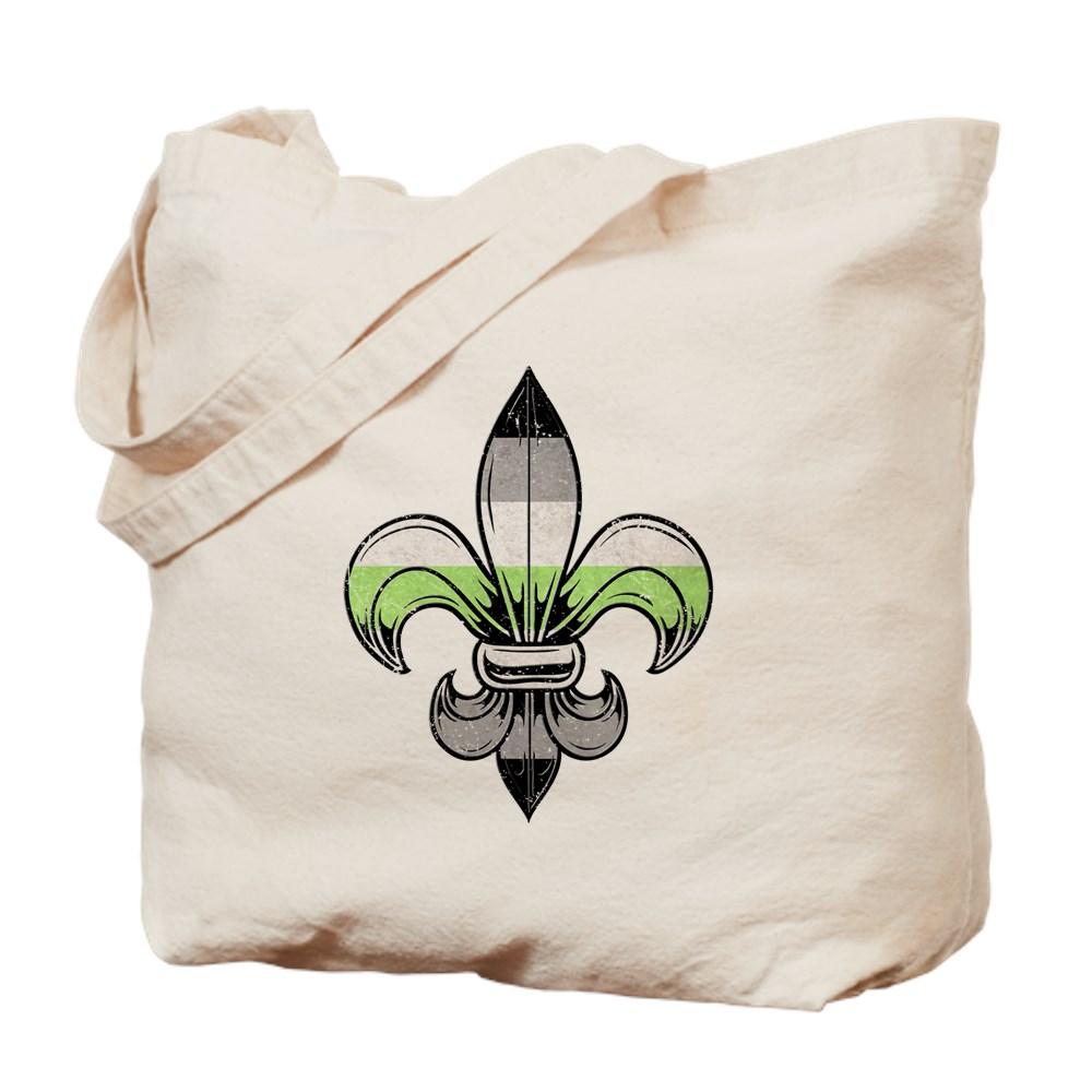 Agender Pride Flag Fleur de Lis Tote Bag