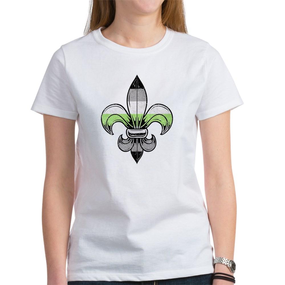 Agender Pride Flag Fleur de Lis Women's T-Shirt